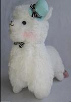 "14""Japan Amuse Arpakasso Alpacasso Alpaca Plush Doll With Hat white"