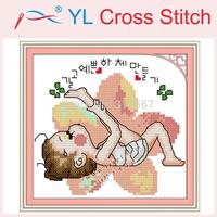Needlework,Unfinished DIY Cross Stitch Sets Stitching Embroidery Kits Yoga Doll (1) Counted Cross Stitch Wall Home Decoration