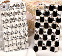Luxury DIY Diamond rhinestone case cover for  iphone 5 5S clear crystal handmade bling hard back cover case