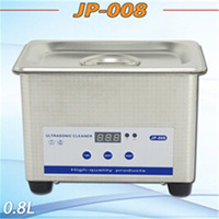 Hot sale household mini ultrasonic cleaner for jewelry watch shaver cleaning,JP-008,800ml,with 1 year warranty