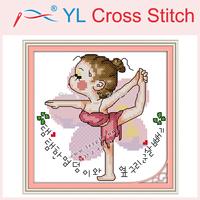 Yoga Doll (5) Counted Cross Stitch DIY Cross Stitch Sets Stitching Embroidery Kits Wall Home Decor Cross Stitch Needlework