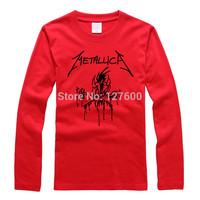 Shake off the metal band Metallica personality tide big yards rock T shirt cotton long-sleeved t-shirt men and women