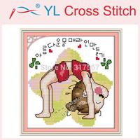 Yoga Doll (2) Counted 11CT 14CT DMC Cross Stitch DIY Cross Stitch Sets Stitching Embroidery Kits Wall Home Decor  Needlework