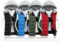 New men's casual fashion down jacket winter autumn Warm Waistcoat male silm Fitted Leisure Couples vest Sleeveless clothing