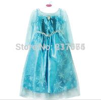 Elsa Frozen Dress vestido frozen girls dress for 3-8ages Frozen Dresses Long-Sleeve Frozen Party Dress