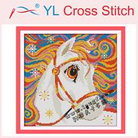 Needlework ,Rainbow Horse Counted Cross Stitch 11CT 14CT DIY Cross Stitch Sets Stitching Embroidery Kits Wall Home Decoration