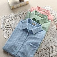 Brand New 3 colors Fashion women blouses blusas cotton blouse Slim long sleeve Blouses 2014 summer shirt women blusas femininas