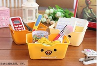 5 Pieces / Lot  14*10*6 cm Cartoon Bear Desktop Storage Box SundriesFinishing Box Glove Box Plastic Box