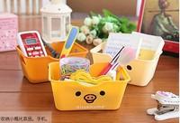 5 Pieces / Lot  14*10*6 cm Cartoon Bear Desktop Storage Box SundriesFinishing Box Glove Box Plastic Box