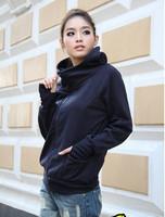 fashion 2014 winter women's slim jacket fleece zipper with a hood cardigan Hooded sweatshirt outerwear female coat for women