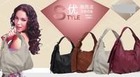 The new 2014 female   leather handbag Fashion leather fashion one shoulder hand leisure bag