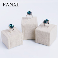 Free Shipping Ring ring holder jewelry display jewelry holder Han Ma square three-piece