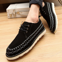 Summer leather trend platform shoes fashion casual shoes skateboarding shoes breathable male shoes new arrival