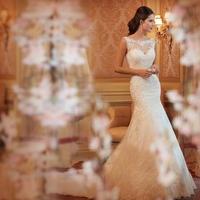 2014 Latest White/Ivory Sweetheart Applique Beaded Strapless Mermaid Wedding Dress Customer Made Chapel Train Back Open