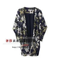 Free shipping Fashion Follows Nature AS House Knit Kimono Open Stitch Large Size Three Quarter Sleeve Women Coat Jacket