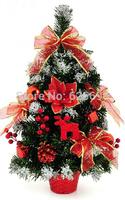 free shopping Christmas decorated 60 * 30cm big red sticky white PVC decorative Christmas / bonsai tree