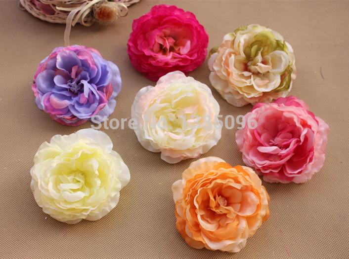 Atacado 20 pcs flor simulação coreia do lotus flores de seda / flor cocar chapéu acessórios de vestuário arranjo de casamento 10 cm(China (Mainland))