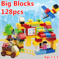 Big Building Blocks Minifigures Self-Locking Bricks Baby First Block Educational Kids Toys Brinquedos Compatible Blocks