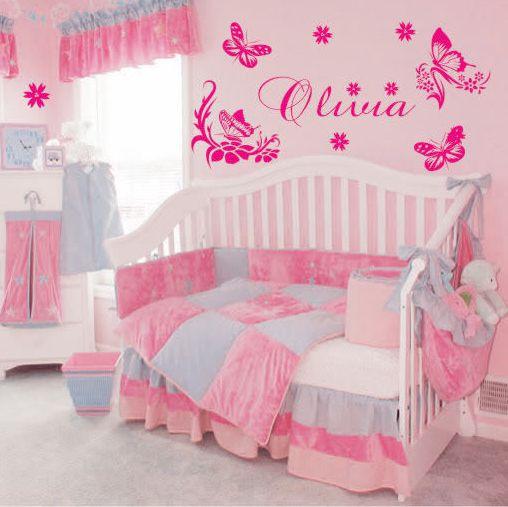Online kopen wholesale vlinder kinderslaapkamer uit china vlinder kinderslaapkamer groothandel - Bebe deco slaapkamer ...