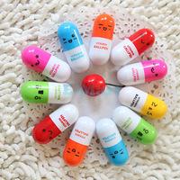 Cute Face Capsule Pen Retractable Pill Pen Six Color Best Gift For Friend 1000pcs/lot