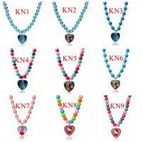 Frozen Peppa Pig Bead Strand Pendant Necklace Fashion Children Cartoon Jewelry
