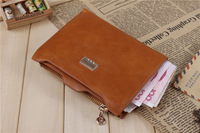 10pcs lots wholesale 2014 Good Looking Genuine Leather Cheap women Wallets--- orange