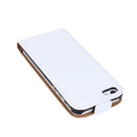 Wholesale Real Genuine New Leather Flip Slim Case Pouch Cover For Apple iPhone 5 5S DHL FREE SHIPPING