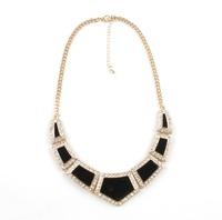 Fashion Necklace Hot 2014 New Rhinestone Geometric Necklace Jewerly for Women 07002 Free shipping