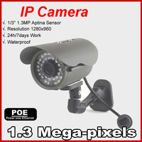 The Lowest Price POE  IP Camera 960P Outdoor  Waterproof IP66 Network 1.3MP HD CCTV Camera