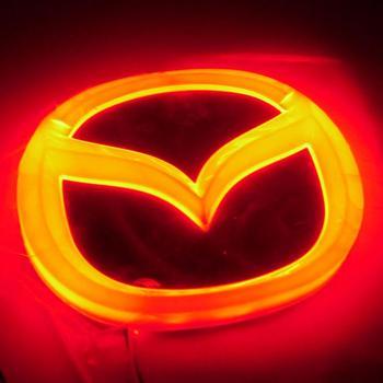 Newest Design Stylish 4D LED Rear logo decoration Light for Mazda M2 M3 ( Red/White/Blue option )