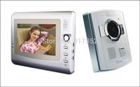 DHL Free shipping!!!4 wire 7 inch color handfree video door intercom phone, fashion video doorbell