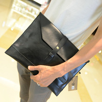 2013 Men's handbag bag PU leather envelope bag man bag business documents Clutch bag briefcase business documents