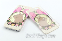 Customized UV Double printing Embossed Printing Clear Hard Plastic Case for iphone 5S