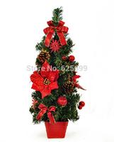 free shopping Christmas decorations 60 * 23cm Red Christmas flower arrangement bonsai tree