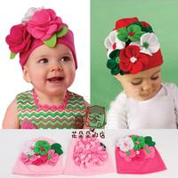 wholesale 6pcs/lot Flower spring HAT beanie BABY toddler INFANT girls