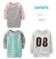 Original Carter's Toddler Girls Boys Long Sleeve French Terry Tunic Sweater, Spring Autumn Kids Sweatshirts, freeshipping