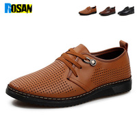 Rosan 2014 new summer mens loafers,fashion breathable shoes Exquisite hand-stitching mens high quality leather  loafers