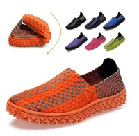 2014 new fashion sneakers handmade weaving breathable freely sneaker wax shoelaces 7 color autumn sports shoes free shipping
