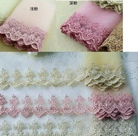 free shipping 11.5cm Gold silk gauze embroidery lace, DIY manual bow hair clip lace free shiping