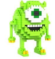 Li Zhi blocks LOZ small diamond assembled toys 9162 monster University Mikes gadgets