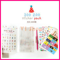 Free shipping 24 sheets Joozoo Sticker Cartoon DIY Paper Sticker/Sign post/Wholesale vintage crafts and scrapbooking S2985