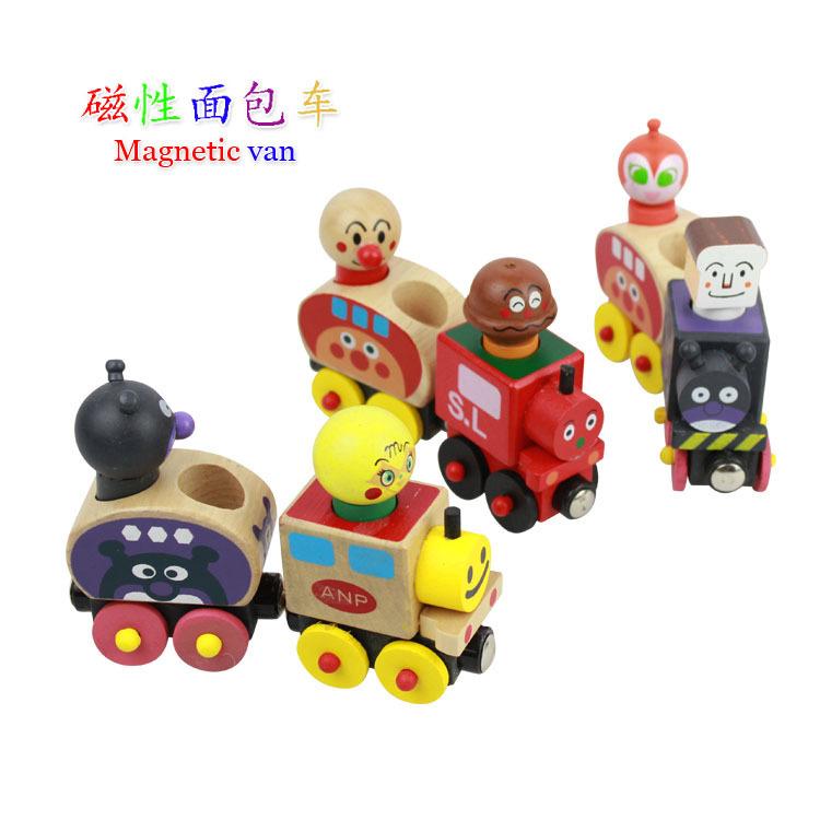 Japanese Anpanman wooden trains(China (Mainland))