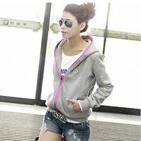Free shipping Fashion 2014 winter & autumn hooded casual Sweatshirts women's jacket outerwear outwear slim new coat for women