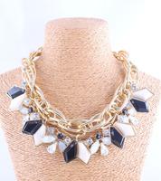 wholesale New fashion Za bib collar necklace chunky luxury crystal pendant choker Necklace statement jewelry women