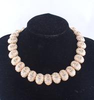 wholesale Za fashion trendy jewelry crystal Antique metal choker collar necklace & pendant statement necklace 2014 women