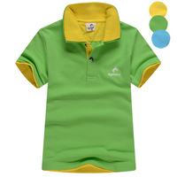 Male child 2014 children's clothing t-shirt child T-shirt short-sleeve shirt child 100% cotton polo shirt