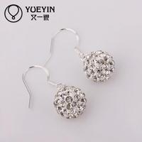 E026 Elegant wholesale fashion design AB clay earring for women