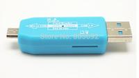 USB  Hub + Micro USB Mobile Phones OTG TF/Micro SD Card Reader Connection Kit - 50pcs