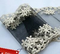 free shipping 13cm Net yarn embroidery lace, High-grade fashionable dress lace free shiping