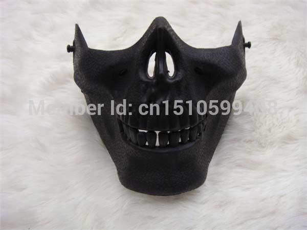 Free Shipping Skull Skeleton Airsoft Game Hunting Biker Ski Half Face Protect Gear Mask Guard(China (Mainland))
